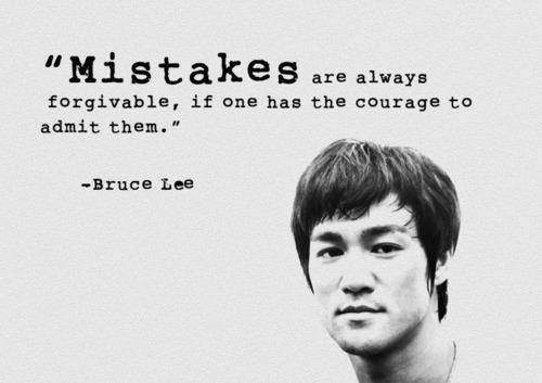 mistakes are forgiveable
