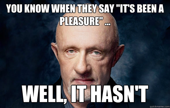 no pleasure