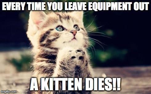 leave equipment