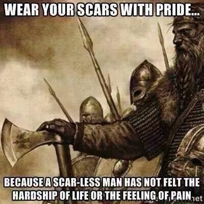 A man with no scars