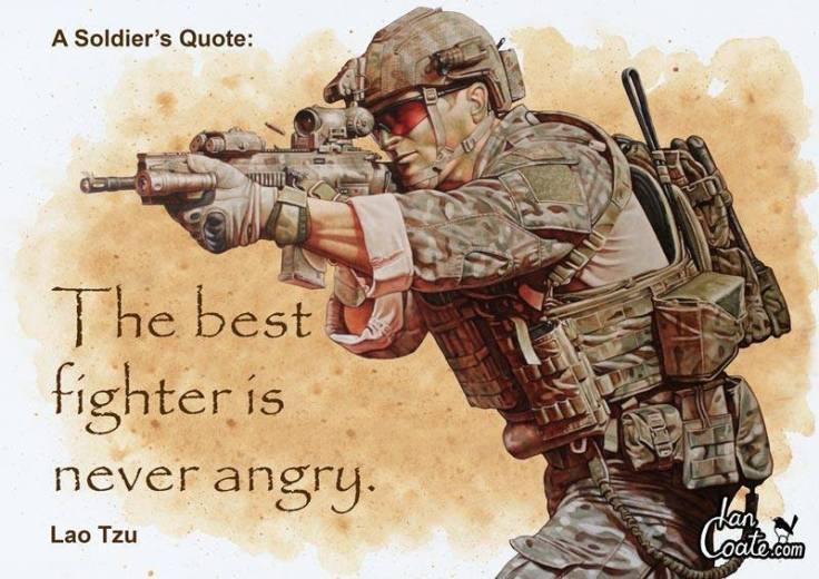 never angry
