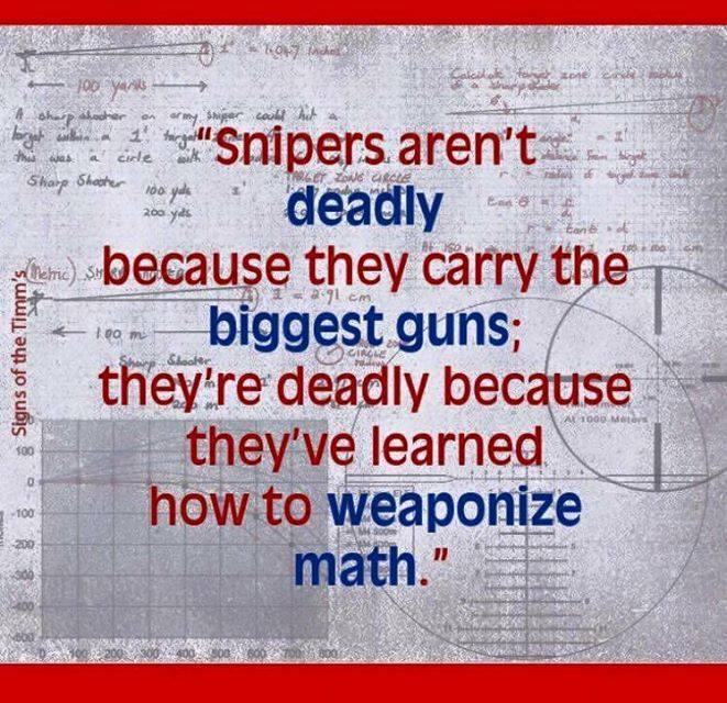 sniper math