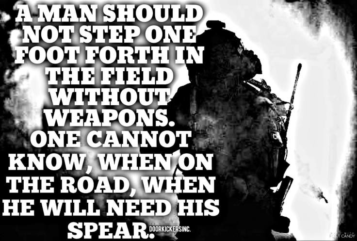 without weapons