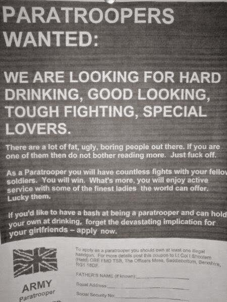 paras wanted