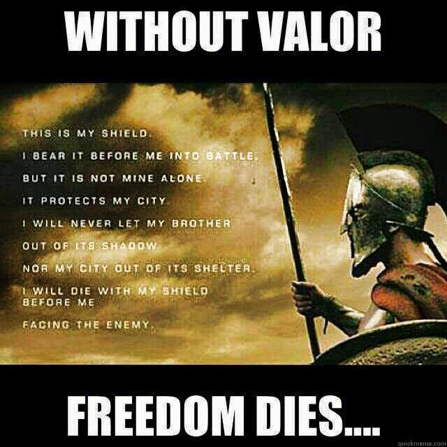 without valor